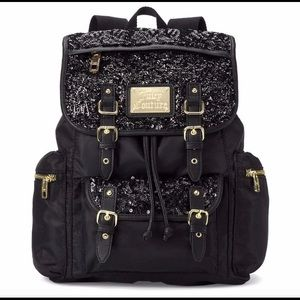 🎒 🖤JUICY Couture Black Sequin Backpack Bag✨